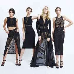 Siyah Dantelli Elbiseler Zuhair Murad 2015 İlkbahar Koleksiyonu