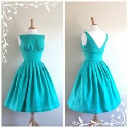 Turkuaz Vintage Elbise Modelleri