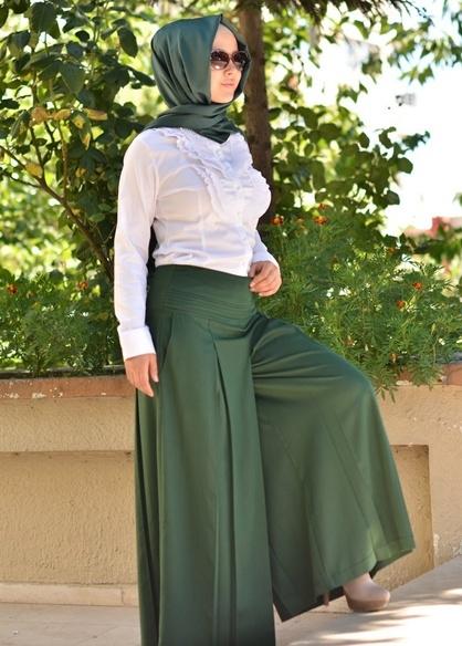 Yeşil 2014 Pantolon Etek Modelleri