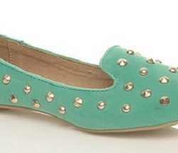 Zımba Detaylı Babet Su Yeşili Ayakkabı Modelleri
