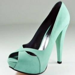 Zarif Su Yeşili Ayakkabı Modelleri