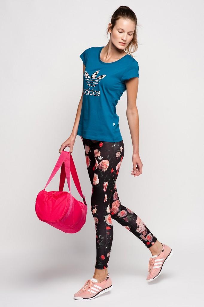 Çiçekli Tayt Adidas Spor Giyim