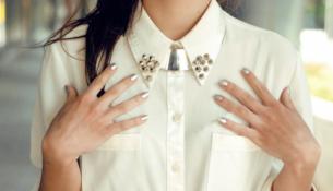 Beyaz Şifon Zımba Detaylı Gömlek Modelleri