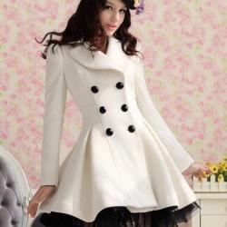 Beyaz Yeni Sezon Kışlık Kaban Modelleri