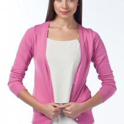 Düz Pembe Hırka Anka Maya Bluz ve Hırka Modelleri