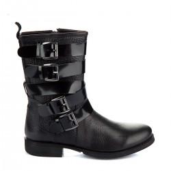 Deri Bot İnci Bayan Ayakkabı Modelleri
