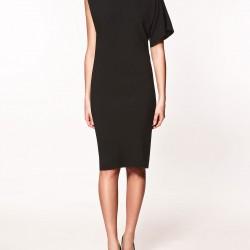Dizde Siyah Zara Elbise Modelleri