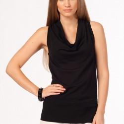 Kolsuz Siyah Bluz Silk&Casmere Yeni Sezon Modelleri