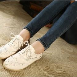 Krem Oxford Ayakkabı Modelleri