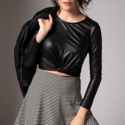 Siyah Bluz Unitex Yeni Sezon Modelleri