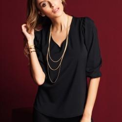 Siyah Bluz Yeni Petty Mark Modelleri
