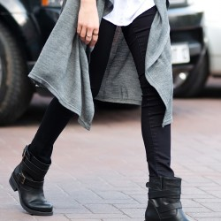 Siyah Bot Bambi Ayakkabı Modelleri