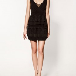 Siyah Zara Elbise Modelleri