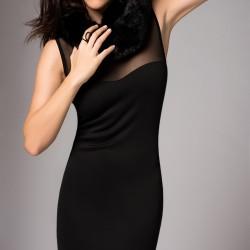 Tül Detaylı Elbise Unitex Yeni Sezon Modelleri