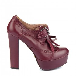 Topuklu Deri Ayakkabı İnci Bayan Ayakkabı Modelleri