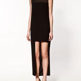 Uzun Siyah Zara Elbise Modelleri