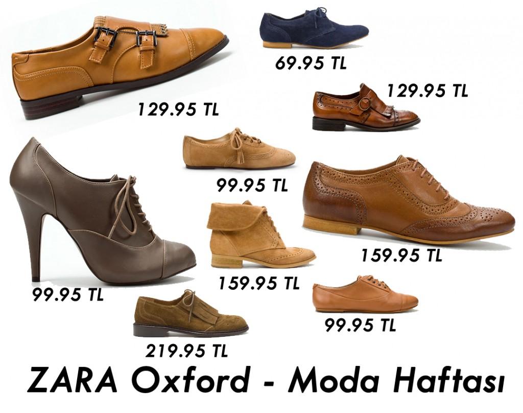 Zara Oxford Ayakkabı Modelleri