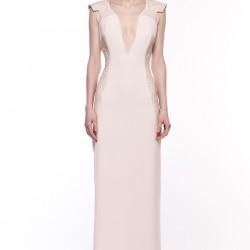 İşlemeli Pembe Elbise Songül Bacacı Yeni Modelleri