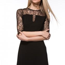Dantelli Siyah Elbise Modelleri