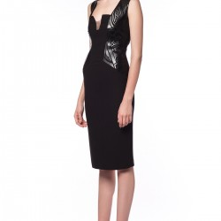Deri İşlemeli Elbise Songül Bacacı Yeni Modelleri