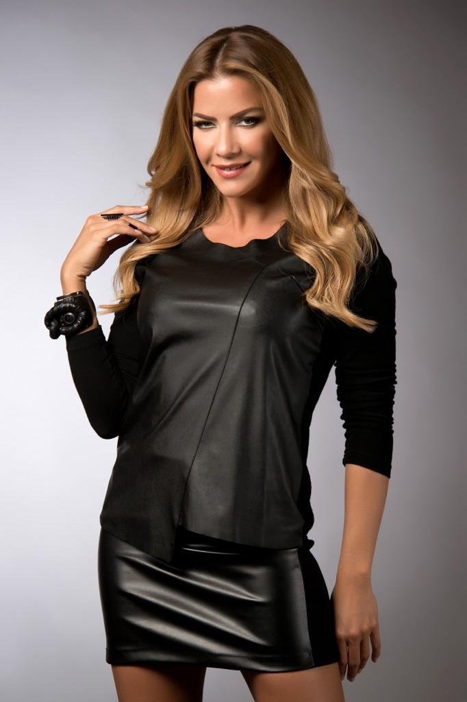 Deri Detaylı Bluz Emporium Fashion Week Modelleri