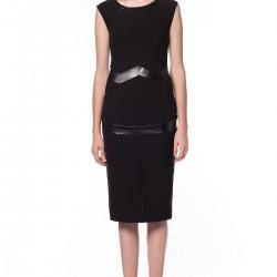 Deri Detaylı Elbise Songül Bacacı Yeni Modelleri