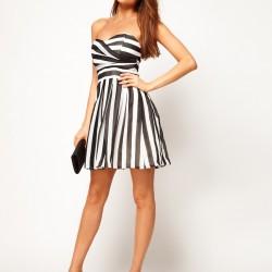 Elbise 2014 Çizgili Kıyafet Modası