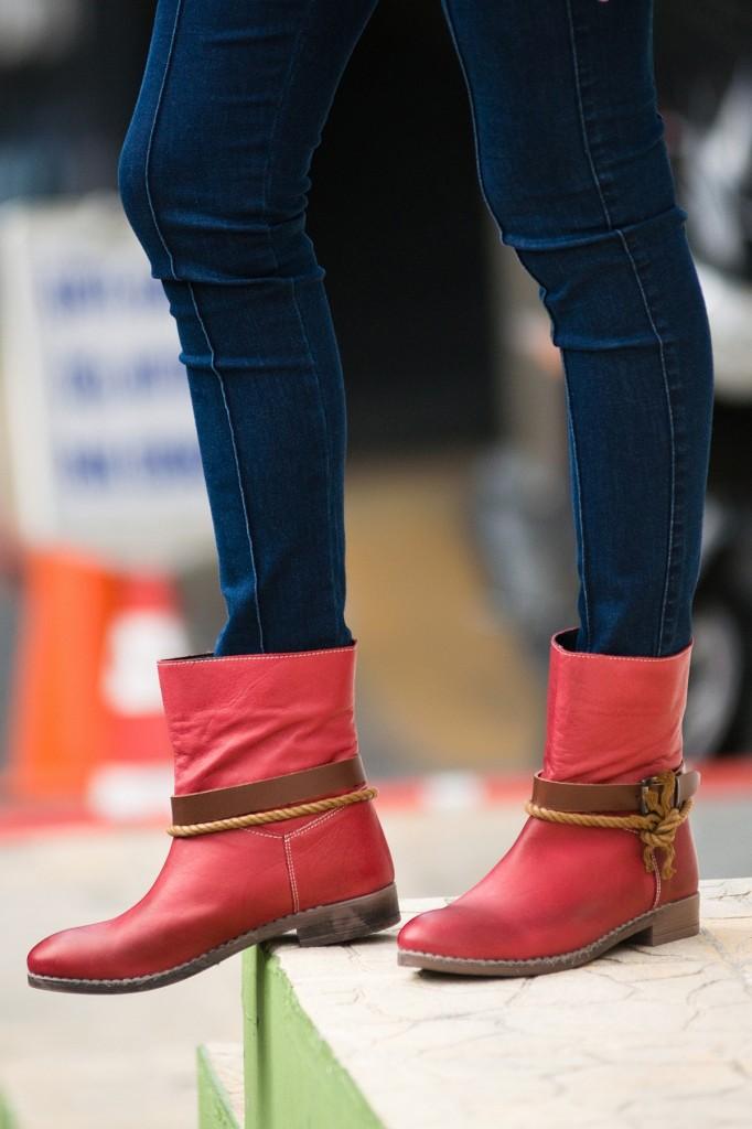 Kırmızı Bot Bambi Deri Ayakkabı Modelleri