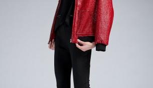 Kırmızı Deri Mont Yeni Sezon Twist Modelleri