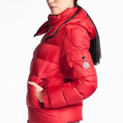 Kırmızı Moncler Mont Modelleri