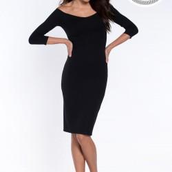 Kayık Yaka Siyah Elbise Modelleri