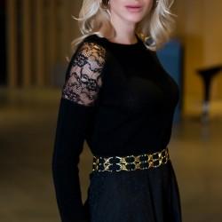Omuz Kısmı Dantelli Elbise Yeni Sezon Pretty Mark Modelleri