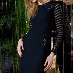 Pul Payetli Siyah Elbise Modelleri