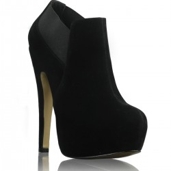 Süet Siyah Coveri & Co Ayakkabı Modelleri