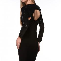 Sırt Dekolteli Siyah Elbise Modelleri