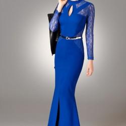 Saks Mavisi Modagram Elbise Modelleri