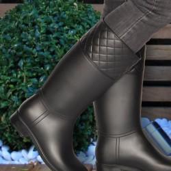 Siyah Çizme Marjin Ayakkabı Modelleri