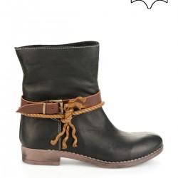 Siyah Bambi Deri Ayakkabı Modelleri