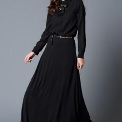 Siyah Elbise Nottis Yeni Sezon Modelleri