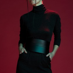 Siyah Mini Elbise Yeni Japon Stili Modeller