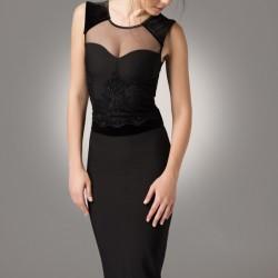 Siyah Tül DetaylıModagram Elbise Modelleri