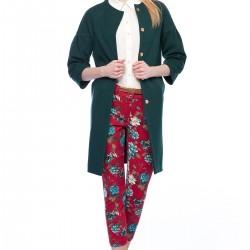 Çiçekli Bordo Pantolon 2015 Yare Kışlık Modeller