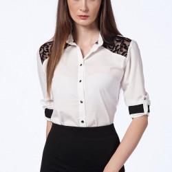 Şık Beyaz Gömlek Berla Yeni Sezon Modelleri