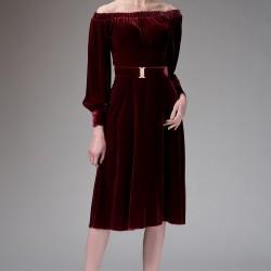 Şarap Elbise Yeni Sezon Roman Modelleri