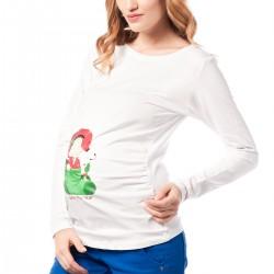 Beyaz Sweat 2015 Hamile Giyim Modelleri