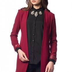 Bordo Ceket Tasarımcı Safiye Ekiz Koleksiyonu