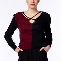 Bordo Siyah Bluz 2015 Dilek Şahin Modelleri