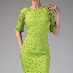 Fıstık Yeşili Elbise Yeni Sezon Roman Modelleri