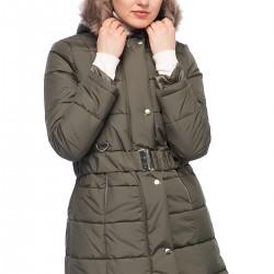 Kürk Detaylı Haki Kaban 2015 Yare Kışlık Modeller