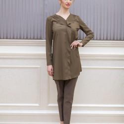 Kahverengi Yeni Sezon Tuay Karaca Tunik Modelleri